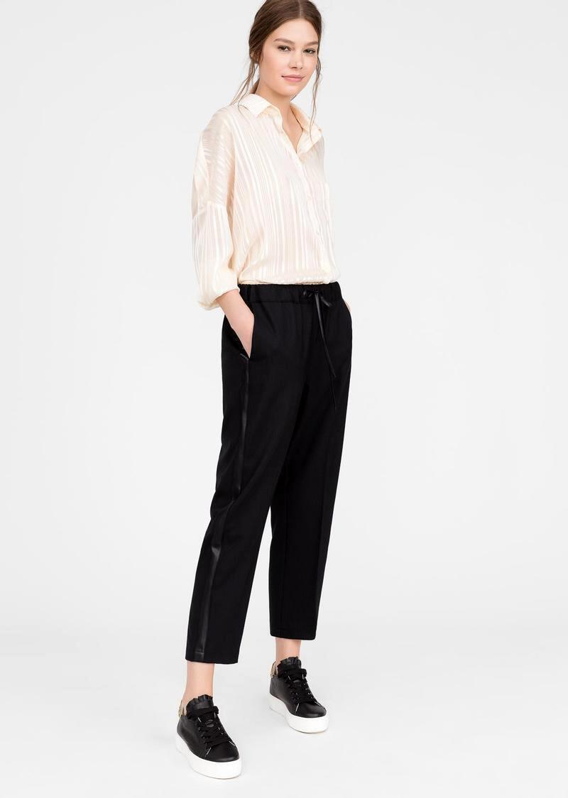 Wool-blend trousers
