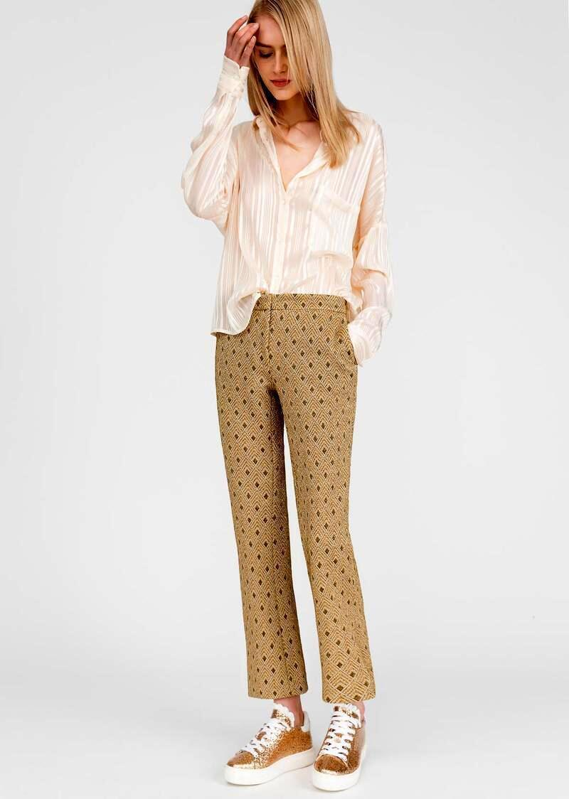 Model Name Stan. Brocade jersey trousers
