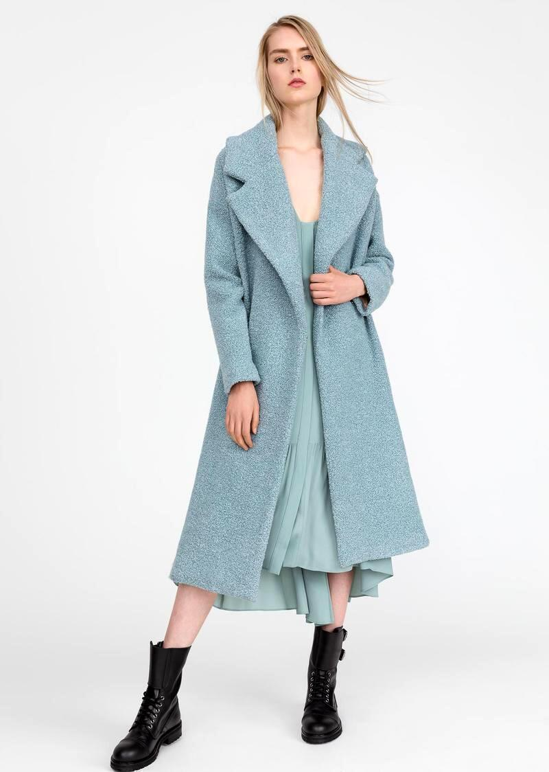 Wiley model. Wool blend coat