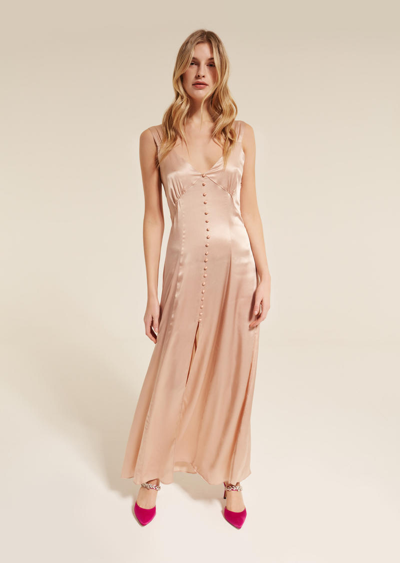 Long satin dress